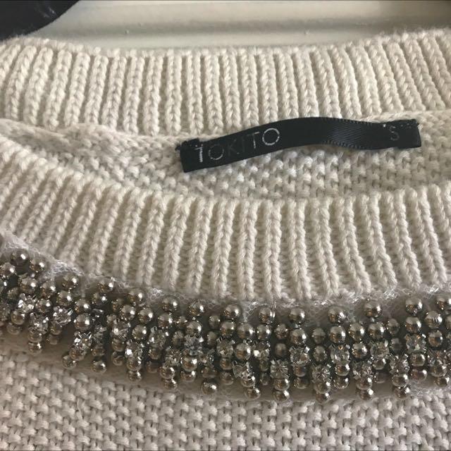 Tokito Diamanté Neck Knit