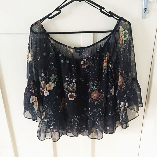 TOPSHOP Festival Flower Crop Top