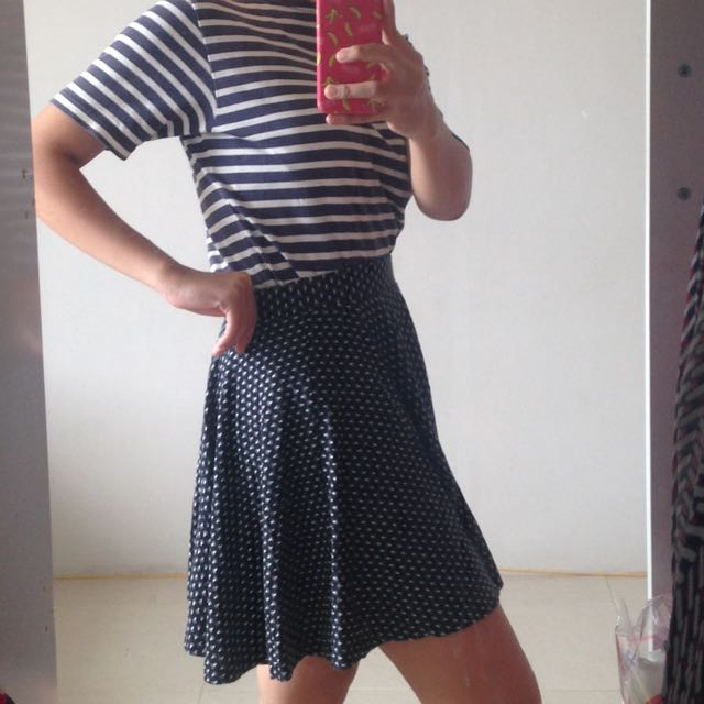 UNIQLO Skirt Black & White