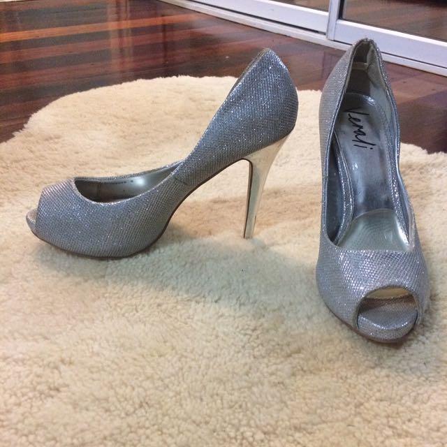 Verali Sparkly Silver Heels