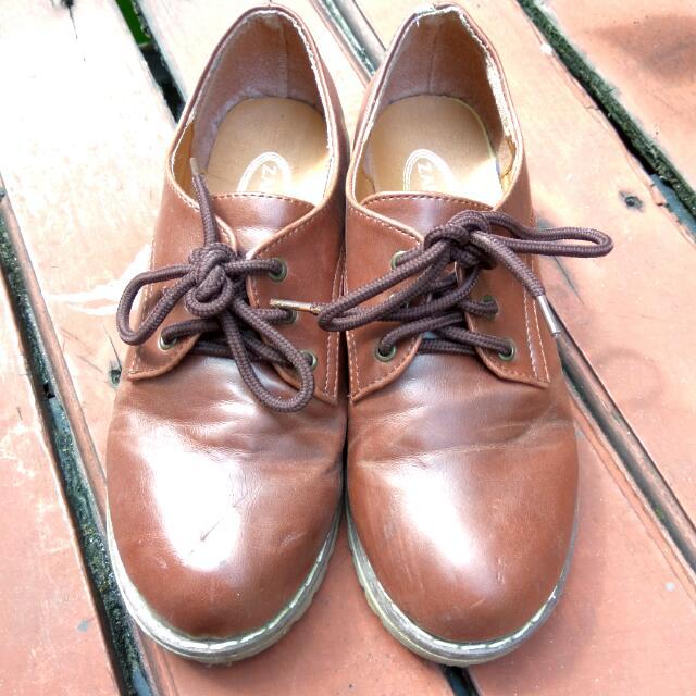 Woman Oxford Brown Shoes