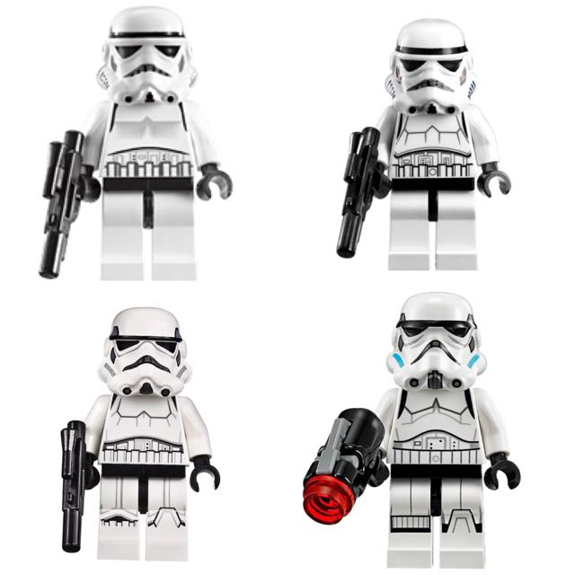 Wtswtt Lego Star Wars Minifigures Stormtrooper Set Toys Games