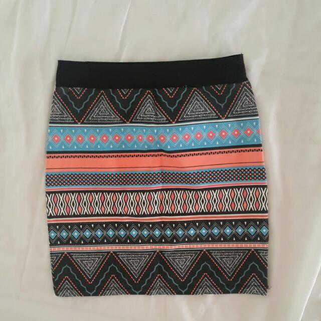 *NEW* ZARA TRF Tribal Skirt