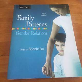 Family Patterns Gender Relations (third edition) Edited by: Bonnie Fox