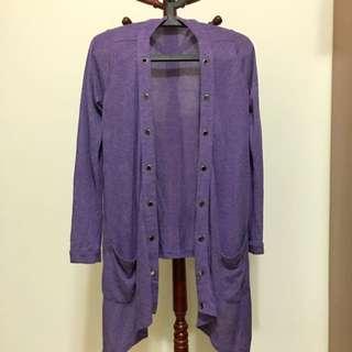 紫色罩衫 L號