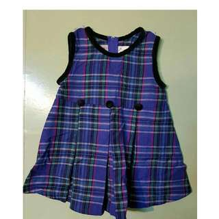 Toddler gown purple 006