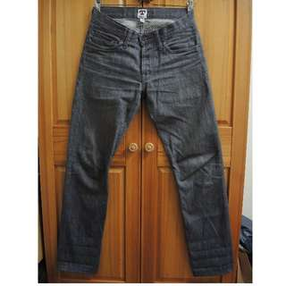 Tellason GREY LADBROKE Denim Selvedge 直筒 牛仔褲 原色 灰色 美國製