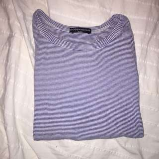 Blue Striped Brandy Melville Shirt