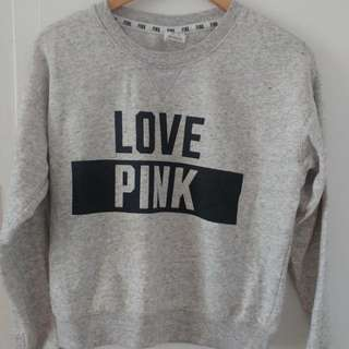 Love Pink Grey Sweater