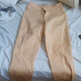American Apparel hight waisted Jeans, Small, Peach Colored