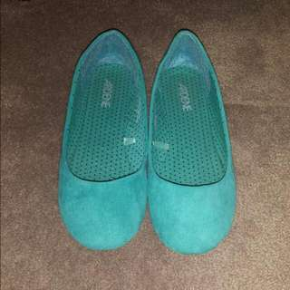 Blue Flats Shoes