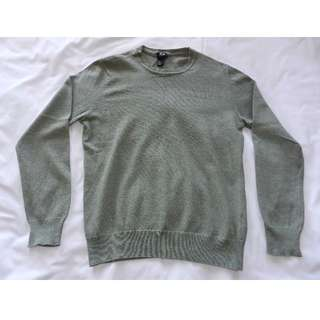 H&M Olive Green Crew Neck Sweater [Small]