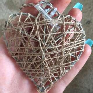 Love Heart Woven Fairy Lights