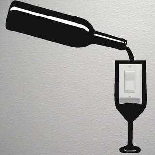 NEW Wine And Glass Decoration Stickers