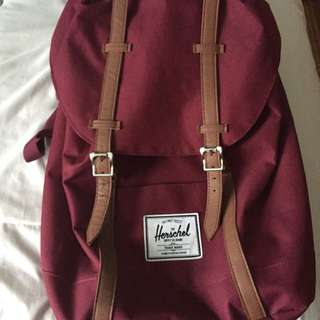 Burgundy w/ Tan Straps Hershel™ Supply Backpack