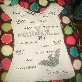 Armani Jeans Tshirt w/ Shirt Back Detail
