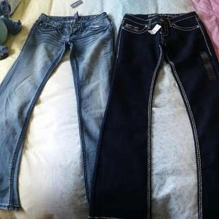 2 Pairs Of Denin Wet Seal Jeans, New With Tags. Size US 3 (Fits AU 8). $20 For 2! Cheap!