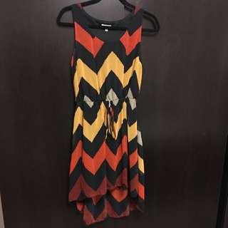 Print Hi-Lo Dress (Medium)