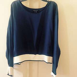 Silk Navy Theory Top In Size L
