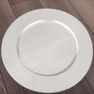 Silver Charger Plates (10)