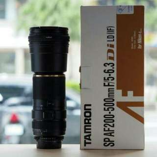 TAMRON FOR NIKON 200-500mm F5-6.3Di LD IF A08