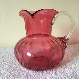 Antique Ruby Glass Jug/Vase