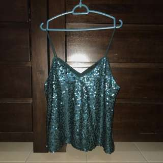 Forever 21 Emerald Green Top With Embellishment