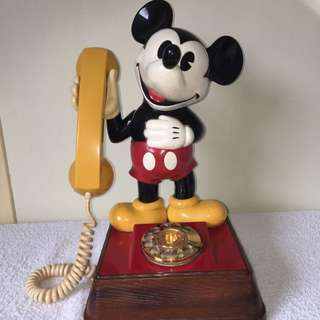 Vintage Mickey Mouse Phone Original