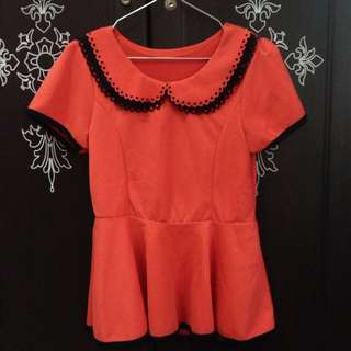 Peplum Orange