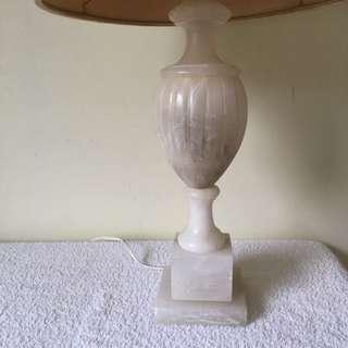 Antique Egyptian Alabaster Lamp Base