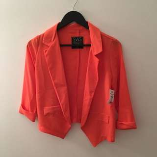 Sheer Orange Blazer