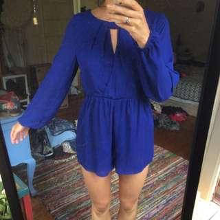 Bohemian Blue Formal Dress Jumpsuit