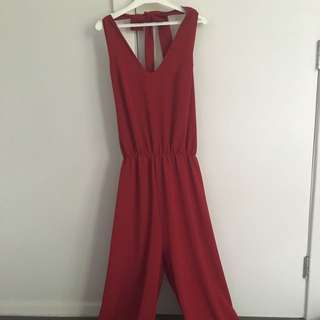 Sexy Red Tie Back Jumpsuit