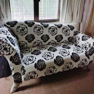 Cleopatra Black And White Vintage Couch