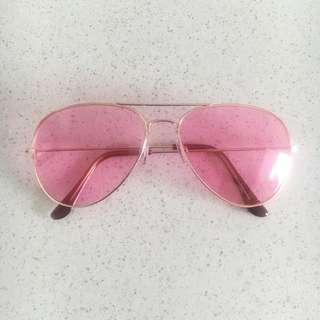 Candy Pink Aviator Sunglasses