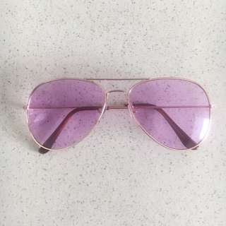 Purple Aviator Sunglasses