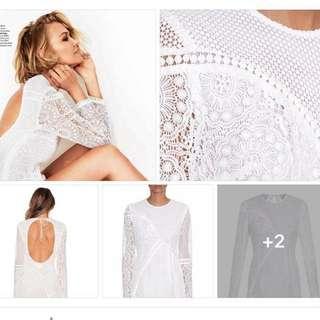 Zimmermann White Anais Lace Dress