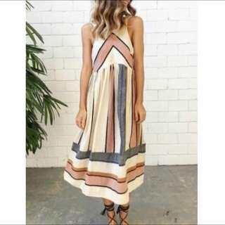Multi Color Chevron Dress Size 12