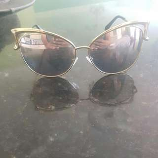 Gold And Rose Gold Lens Cat Sunnies