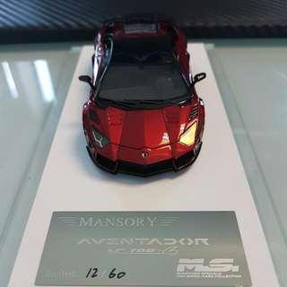 1/43 D&G MANSORY Lamborghini Aventador Chrome Red