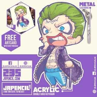 235 Joker Keychain by Jrpencil
