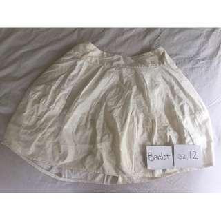 Bardot White Skirt - M