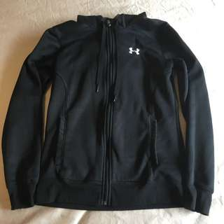 Under Armour Hoodie Zip Up Size XS Black