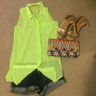Sleeveless Neon Top