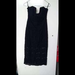 Lace Strapless Dress Size 8