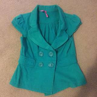 Emerald Green Dotti Vest