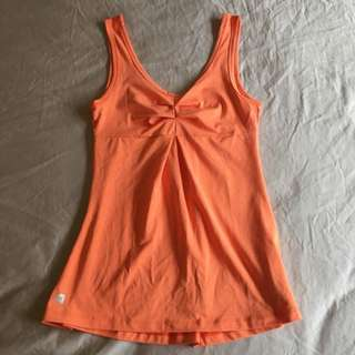 2XU Running Singlet Orange Size Small BNWOT