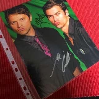 Misha Collins & Matt Cohen 8x10 Autograph Headshot