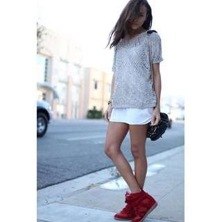 Isabel Marant Burt Burgundy Sneakers Size 36