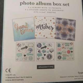 Typo 3 Pack Mini Photo Album Pack